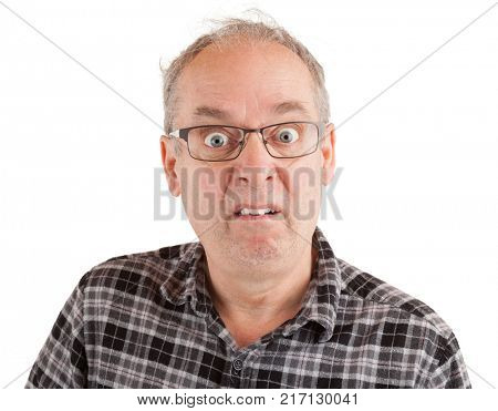 Man with a dumbfounded goofy look
