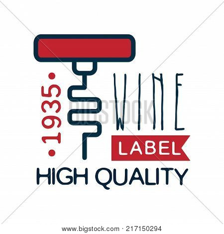 Wine label estd 1935, high quality product vintage logo, design element for menu, winery logo package, winery branding and identity vector Illustration isolated on a white background