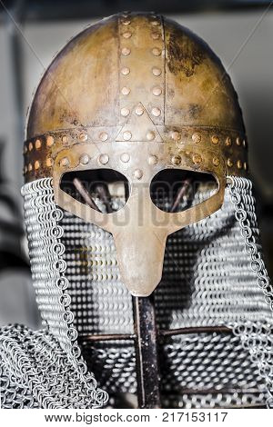 Chain Mail And Helmet