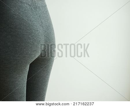 Slim body of asian woman on white slim body of asian woman blank beside for text.