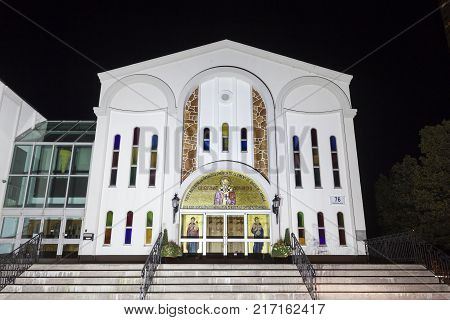 Toronto Canada - Oct 19 2017: Macedonian Orthodox Cathedral St Clement of Ohrid in Toronto