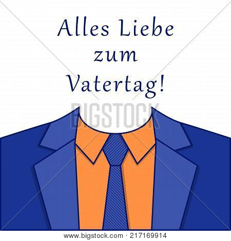 Alles Liebe zum Vatertag - Happy Father s Day Card Design. Vector Illustration.