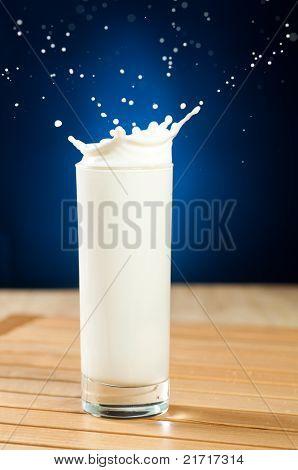 milk is splashing