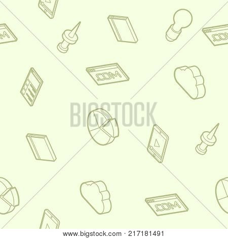 Web design color outline isometric pattern. Logo design, vector design, stationary, branding, corporate identity, product design