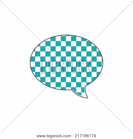 full color oval chat bubble text message style vector illustration