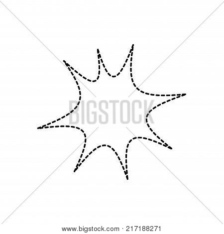 dotted shape star chat bubble art note message vector illustration