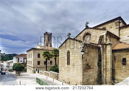 View of the church of San Francisco in Gothic style built in the second half of the XIV century views from the Plaza de Andrade in Betanzos Galicia Spain