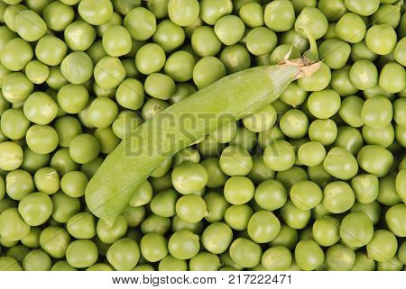 Peas green color food agriculture fresh texture photo stock