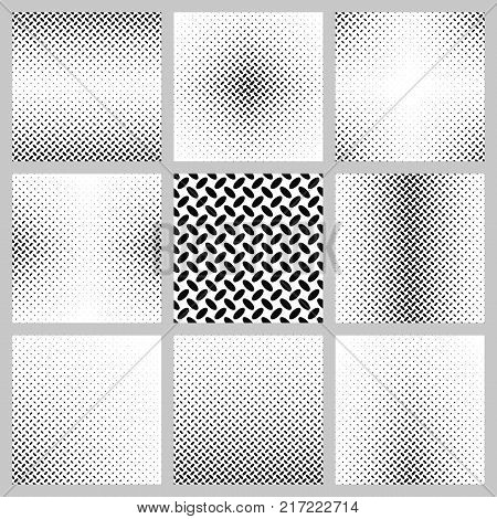 Black and white ellipse pattern background design set