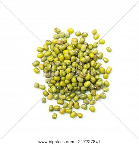 Mung Beans Isolated On White Background..