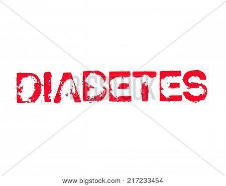 Diabetes. Typographic stamp visualisation concept Original series.