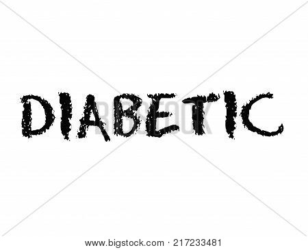 Diabetic. Typographic stamp visualisation concept Original series.