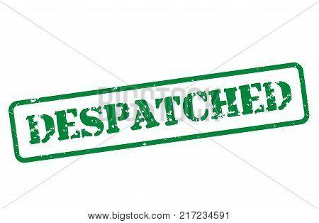 Despatched. Typographic stamp visualisation concept Original series.