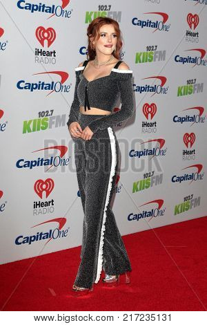LOS ANGELES - DEC 2:  Bella Thorne at the Jingle Ball 2017 at the Forum on December 2, 2017 in Inglewood, CA