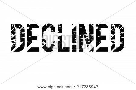 Declined. Typographic stamp visualisation concept Original series.