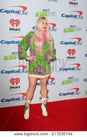 LOS ANGELES - DEC 2:  Kesha at the Jingle Ball 2017 at the Forum on December 2, 2017 in Inglewood, CA