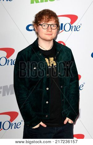 LOS ANGELES - DEC 2:  Ed Sheeran at the Jingle Ball 2017 at the Forum on December 2, 2017 in Inglewood, CA