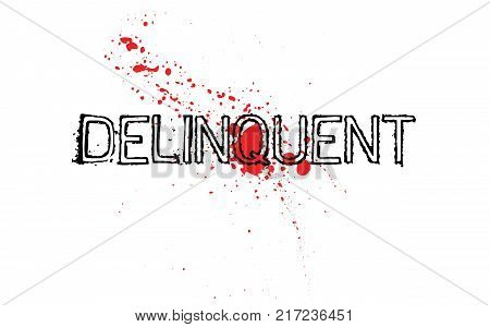 Delinquent. Typographic stamp visualisation concept Original series.