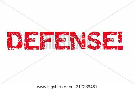 Defense . Typographic stamp visualisation concept Original series.