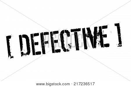 Defective. Typographic stamp visualisation concept Original series.
