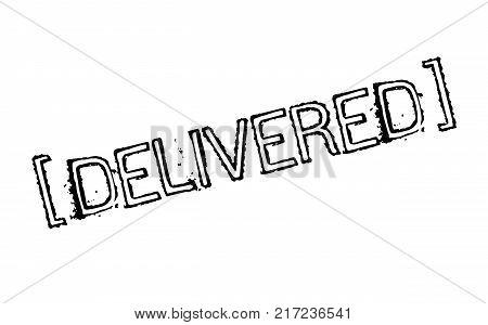 Delivered. Typographic stamp visualisation concept Original series.