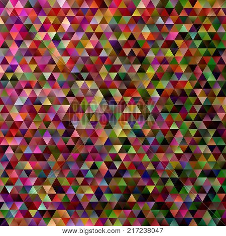 Abstract gradient tiled triangle pattern background - vector mosaic graphic design with multicolored regular triangles