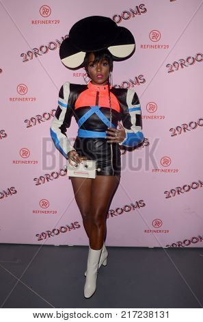 LOS ANGELES - DEC 6:  Janelle Monae at the 29Rooms West Coast Debut presented by Refinery29 at the ROW DTLA on December 6, 2017 in Los Angeles, CA