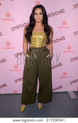 LOS ANGELES - DEC 6:  Demi Lovato at the 29Rooms West Coast Debut presented by Refinery29 at the ROW DTLA on December 6, 2017 in Los Angeles, CA
