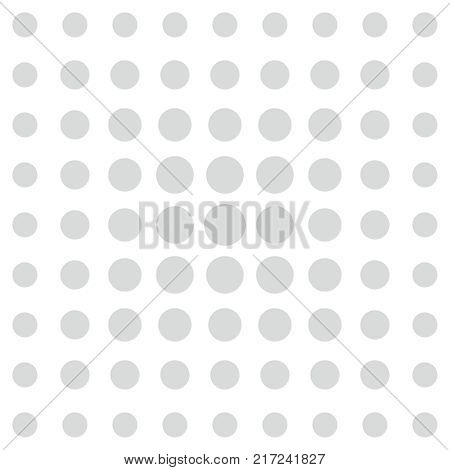 Grey dots on white background vector pattern