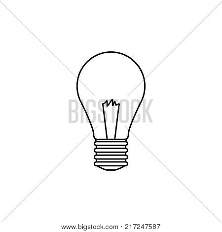 Light Bulb Line Icon Vector Photo Free Trial