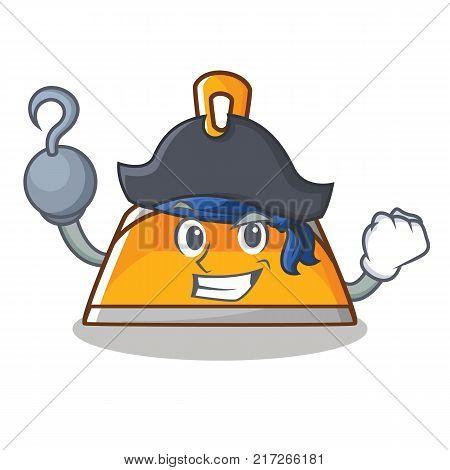 Pirate dustpan character cartoon style vector illustration