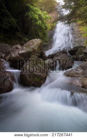 Sarika waterfall in deep forest at Nakorn Nayok, Thailand
