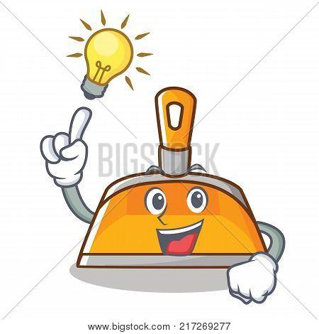 Have an idea dustpan character cartoon style vector illustration