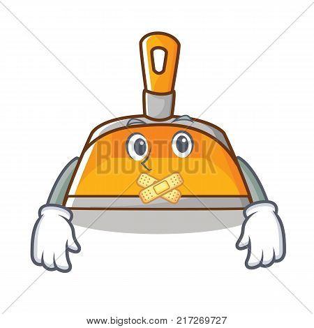 Silent dustpan character cartoon style vector illustration