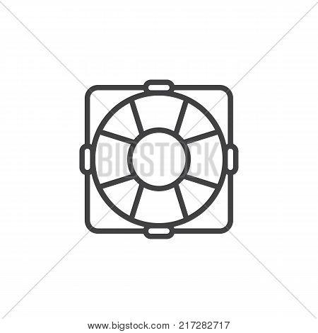 Lifebuoy line icon, outline vector sign, linear style pictogram isolated on white. Lifebelt symbol, logo illustration. Editable stroke