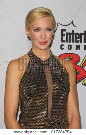 SAN DIEGO - July 22:  Katie Cassidy at the Entertainment Weekly's Annual Comic-Con Party 2017 at the Float at Hard Rock Hotel San Diego on July 22, 2017 in San Diego, CA