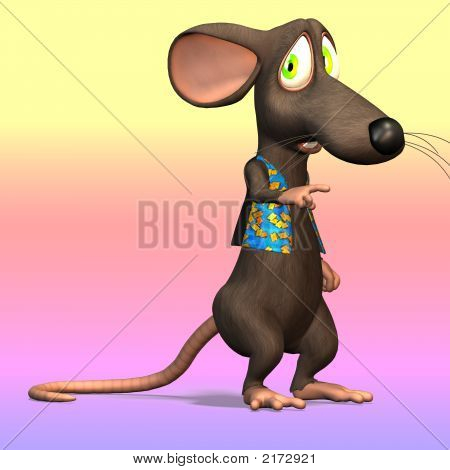 Cartoon Mouse Or Rat #07