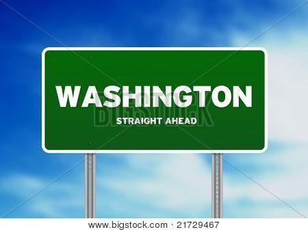 Sinal de rodovia Washington