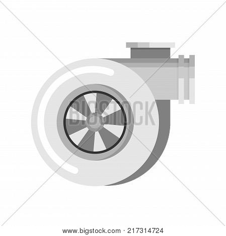 Car turbo flat vector icon for design