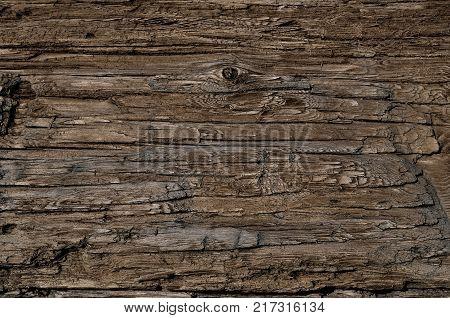 Weathered obsolete rough textured wooden vintage background