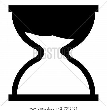 Hourglass icon. Simple illustration of hourglass vector icon for web
