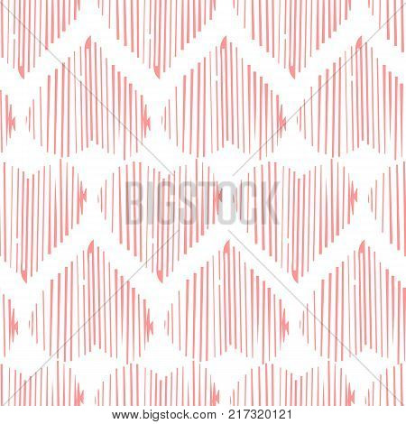 Vector seamless pattern with hearts shape in a modern style. Happy Valentines day illustration. For wallpaper pattern fills web page textures textile wrapping paper