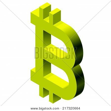 Gold Bitcoin Mark Vector Photo Free Trial Bigstock