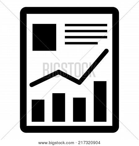 Tablet icon. Simple illustration of tablet vector icon for web