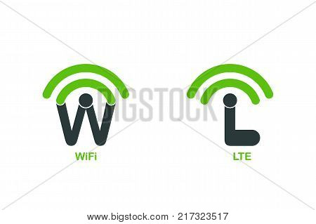 Template logo for Wifi and LTE wireless internet services