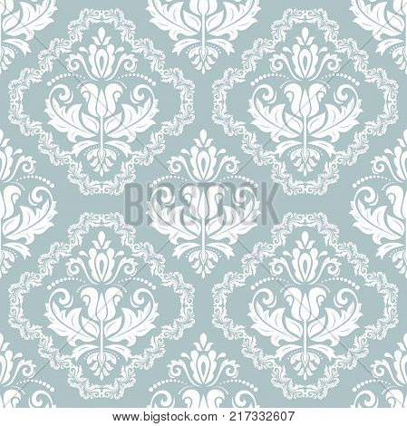 Classic seamless vector pattern. Damask orient white ornament. Classic vintage background