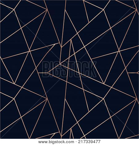 Rose gold seamless pattern. Absctract Geometric background. Seamless geometric pattern.
