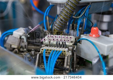 Textile Industry With Knitting Machines