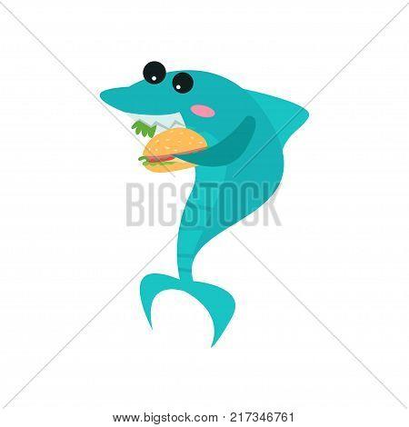 Cute Shark Cartoon Vector & Photo (Free Trial) | Bigstock