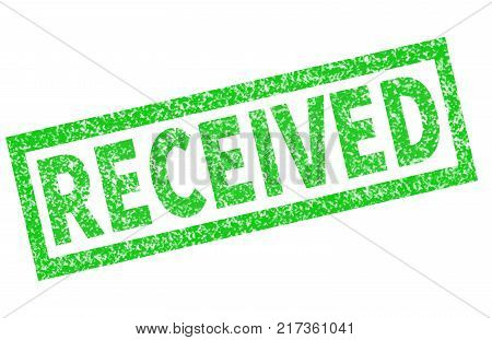 grunge received rubber stamp on white background. received stamp sign. green received symbol.